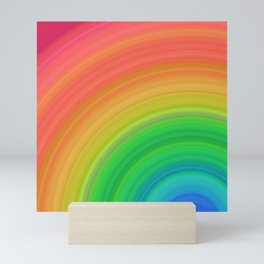 Bright Rainbow | Abstract gradient pattern Mini Art Print