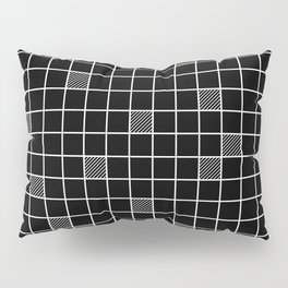 Just checkered pattern black and white 3 Pillow Sham