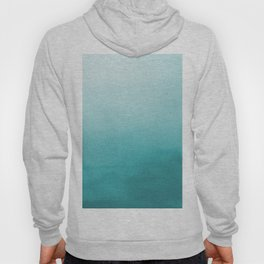 Aqua Teal Turquoise Watercolor Ombre Gradient Blend Abstract Art - Aquarium SW 6767 Hoody