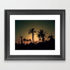 Pier sunset Framed Art Print