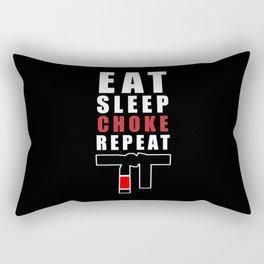 Eat Sleep Choke Repeat Brazilian Jiu Jitsu Gifts for Jiu Jitsu BJJ Gifts Rectangular Pillow