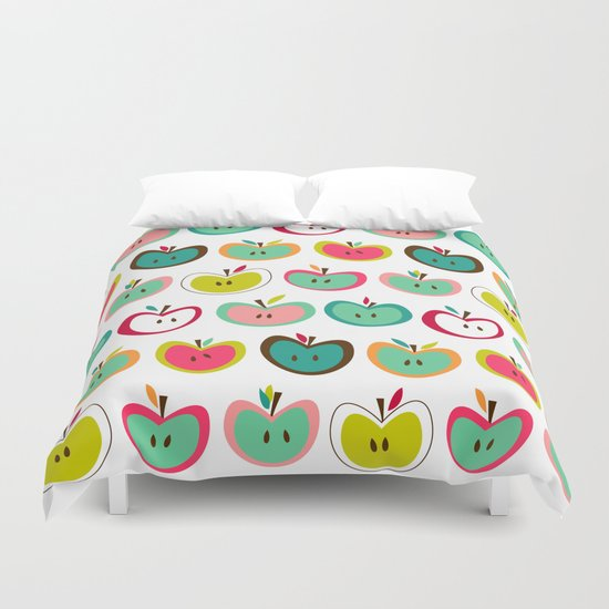 Cute Apples  Duvet Cover