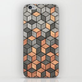 Concrete and Copper Cubes iPhone Skin