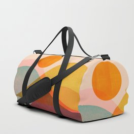 Abstraction_SUNSET_LANDSCAPE_POP_ART_Minimalism_018X Duffle Bag
