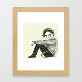Riverdale's Jughead - Angsty Jugy - Cole Sprouse inspired Framed Art Print