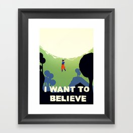 Believe in Goku Framed Art Print