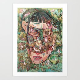 Where the Thoughts Live Art Print
