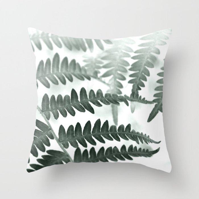 Fern Textures Throw Pillow