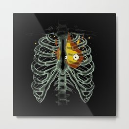 Calcifer From Howl's Moving Castle Metal Print