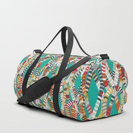 knot drop turquoise Duffle Bag