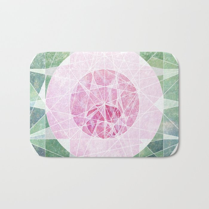 Watermelon Geometery Bath Mat