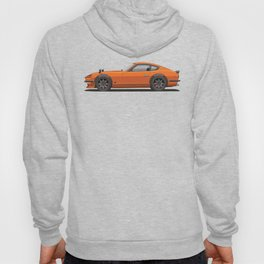 Legendary Classic Orange 240z Fairlady Vintage Retro Cool German Car Wall Art and T-Shirts Hoody