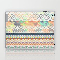 Blue Orange Andes Abstract Aztec Pattern Fashion watercolors Laptop & iPad Skin
