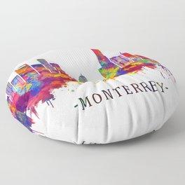 Monterrey Mexico Skyline Floor Pillow