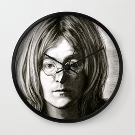 John in Black and White Wall Clock