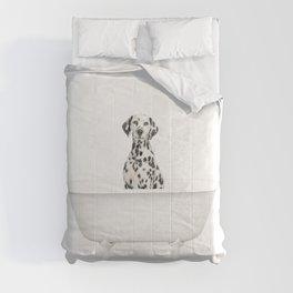 Dalmation Dog in Vintage Bathtub Comforters