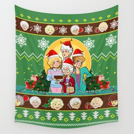Green golden girls christmas - amazing gift idea Wall Tapestry