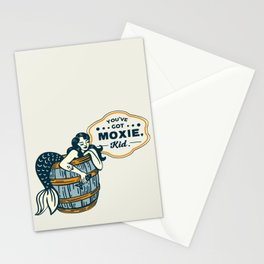 """You've Got Moxie Kid"" Playful Mermaid Illustration Stationery Cards"