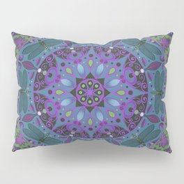 Dragonfly Mandala Pillow Sham