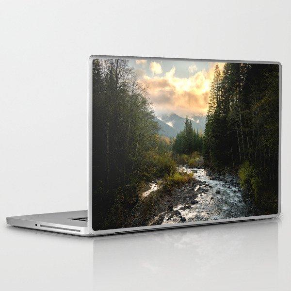 The Sandy River I - nature photography Laptop & iPad Skin