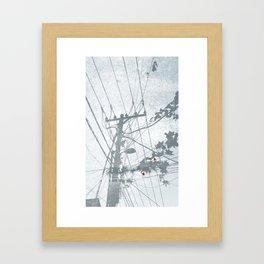 Flowers on the Power Lines Framed Art Print