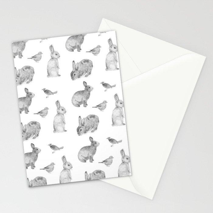 Bunny & Bird Stationery Cards