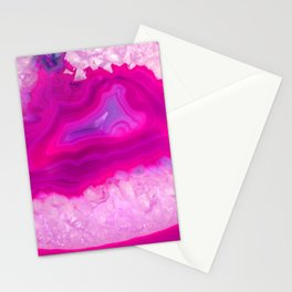 Pink ectoplasm agate Stationery Cards