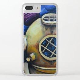Space Scuba Clear iPhone Case
