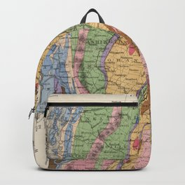 Vintage New Hampshire and Vermont Geology Map (1877) Backpack