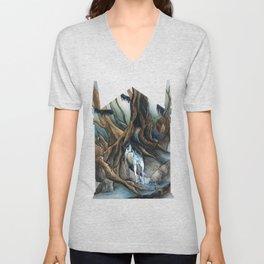 Unicorn in the Forbidden Forest Unisex V-Neck
