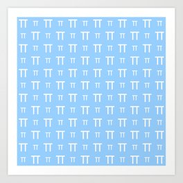 pi 2 blue Art Print