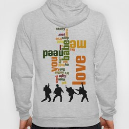 Song typography. All you need is love. Hoody