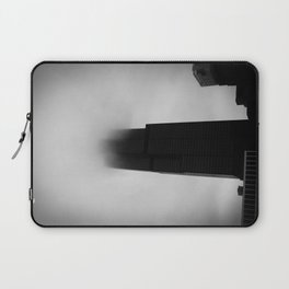 Sears Tower in Fog Chicago Black and White Photo Laptop Sleeve