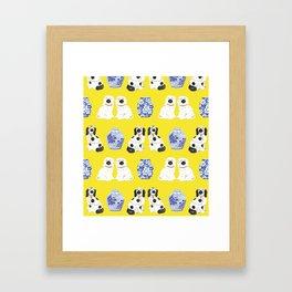 Staffordshire Dogs + Ginger Jars No. 6 Framed Art Print