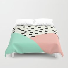 Mod Blush and Dots Duvet Cover