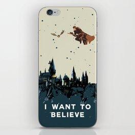 I Want To Believe - Hogwarts iPhone Skin