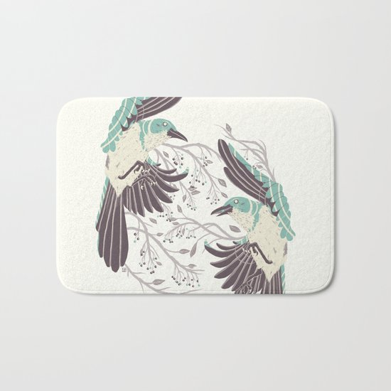 Birds of Summer Bath Mat