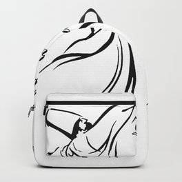 Let The Beauty Of What You Love Be What You Do Quote Rumi Backpack
