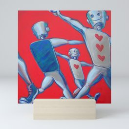 Our hearts march on Mini Art Print
