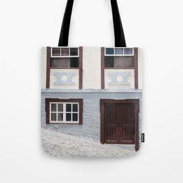 Building and street. La Palma, Canary Island. Tote Bag