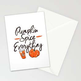 Pumpkin Spice Everything Stationery Cards