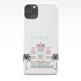 Miami Art Deco Vibes iPhone Case