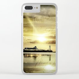 Bournemouth Pier Vintage Style Postcard Clear iPhone Case
