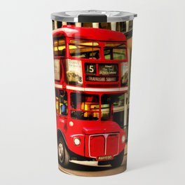 Trafalgar Square London Double Decker Bus Travel Mug