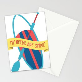 Paddleboarding I My Needs Are Simple I Summer Design Gift print Stationery Cards