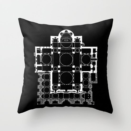 San Marco Plan Throw Pillow