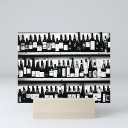 Wine Bottles in Black And White #society6 #decor Mini Art Print