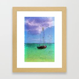 Lonely Boat Framed Art Print
