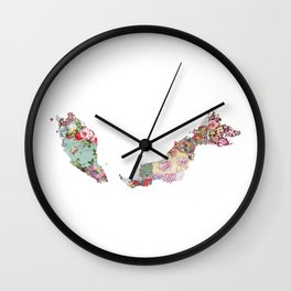 Malaisia map Wall Clock