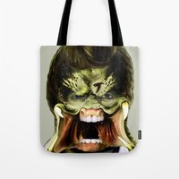 chuck Tote Bags featuring Chuck Predator  by Jack